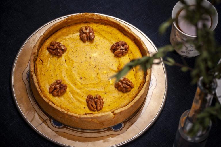 Dýňový koláč s bryndzou